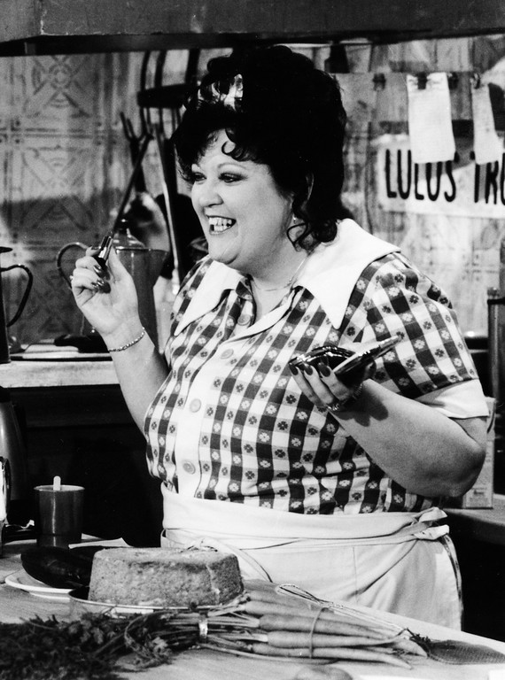 . LuLu Roman appears in a skit on the Hee Haw television show in Nashville, Tenn., in 1982.  (AP Photo/Mark Humphrey, file)
