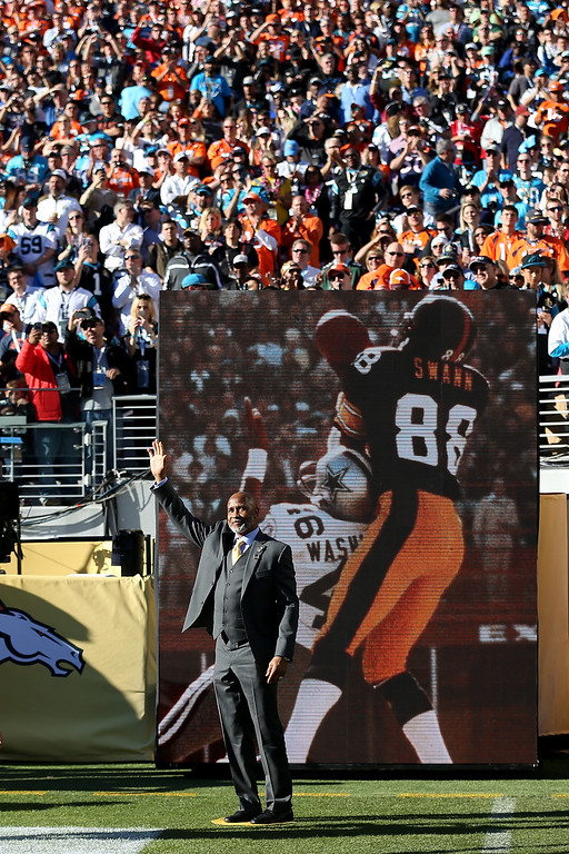 . Super Bowl X MVP Lynn Swann looks on during Super Bowl 50 between the Denver Broncos and the Carolina Panthers at Levi\'s Stadium on February 7, 2016 in Santa Clara, California. Swann was named USC�s athletic director on Wednesday, April 13, 2016.   (Photo by Patrick Smith/Getty Images)