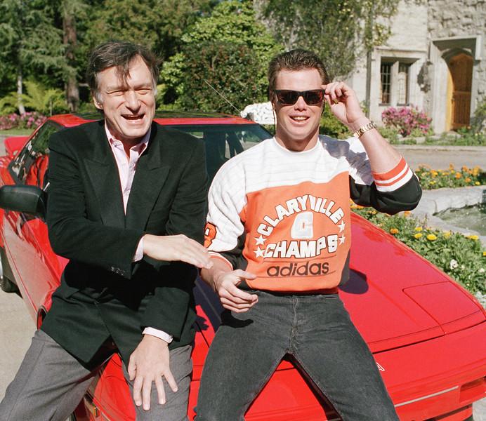 Jim McMahon and Hugh Hefner 1986