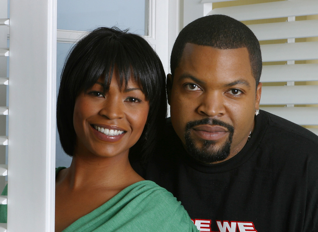 ". Actors Nia Long and  Ice Cube pose at the Four Season Hotel in Beverly Hills, Calif., Jan. 10, 2005. They\'ve collaborated again on a movie, ""Are We There Yet.\""(AP Photo/Stefano Paltera)"