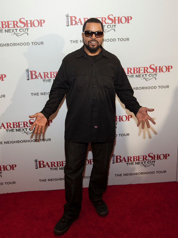 . Actor Ice Cube at the Chicago Premiere of Barbershop: The Next Cut, at the Kerasotes Showplace Icon Theatre on Monday, March 14, 2016 in Chicago (Photo by Barry Brecheisen/Invision/AP)