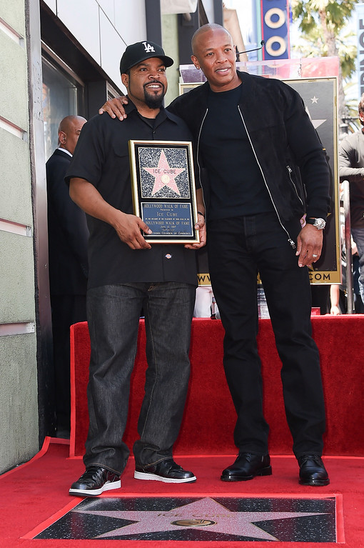 . Ice Cube, left, and Dr. Dre attend a ceremony honoring Ice Cube with a star on the Hollywood Walk of Fame on Monday, June 12, 2017, in Los Angeles. (Photo by Richard Shotwell/Invision/AP)