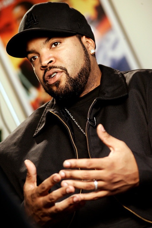 . Musician and actor Ice Cube is seen during an interview at his office Tuesday, March 21, 2006, in Santa Monica, Calif. Ice Cube will host Spike TV\'s AutoRox awards in Las Vegas, which will be taped April 7 and broadcast on April 18. (AP Photo/Damian Dovarganes)