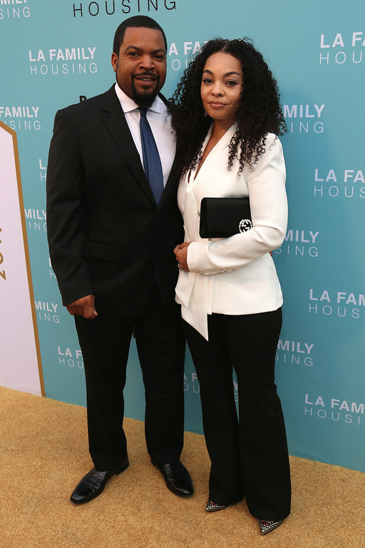 . Ice Cube, left, and Kimberly Woodruff arrives at the 2017 LA Family Housing Awards at The Lot on Thursday, April 27, 2017, in West Hollywood, Calif. (Photo by Willy Sanjuan/Invision/AP)