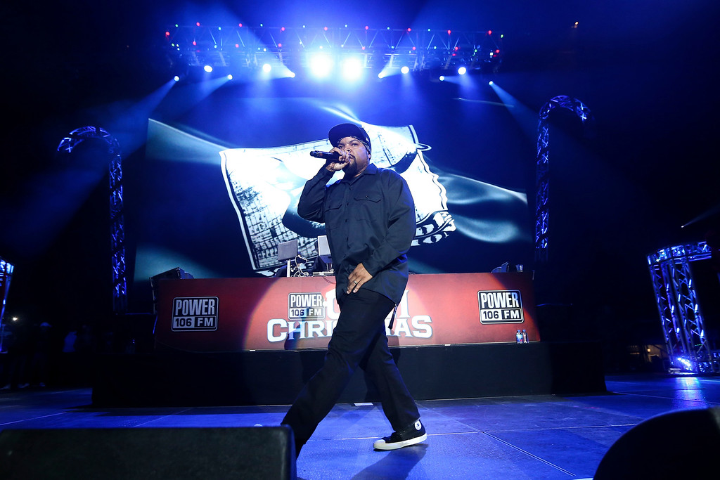 . Ice Cube performs at Power 106\'s 2016 Cali Christmas held at The Forum on Friday, Dec. 2, 2016, in Los Angeles. (Photo by John Salangsang/Invision/AP)