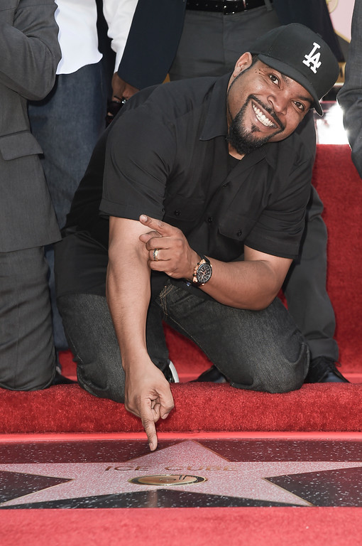 . Ice Cube attends a ceremony honoring him with a star on the Hollywood Walk of Fame on Monday, June 12, 2017, in Los Angeles. (Photo by Richard Shotwell/Invision/AP)