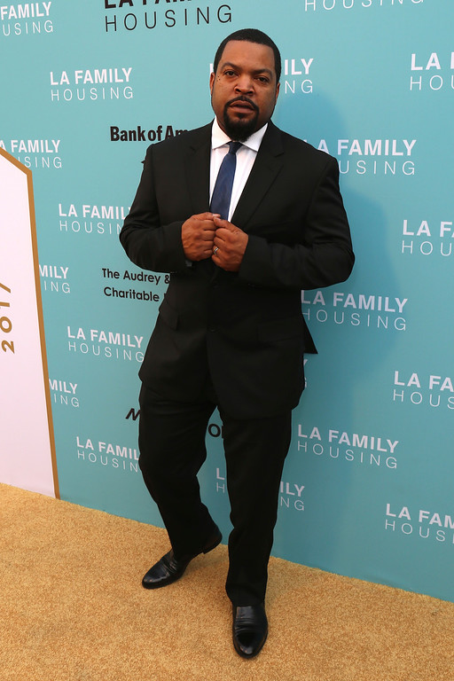 . Ice Cube arrives at the 2017 LA Family Housing Awards at The Lot on Thursday, April 27, 2017, in West Hollywood, Calif. (Photo by Willy Sanjuan/Invision/AP)