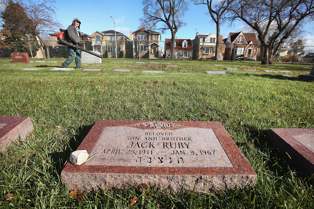 . A headstone marks the grave of Jack Ruby in Westlawn Cemetery on November 18, 2013 in Norridge, Illinois. Ruby, who was born Jacob Rubenstein, killed Lee Harvey Oswald as Oswald was being transferred from police headquarters to the county jail after being taken into custody for the assassination of President John F. Kennedy two days earlier.    (Photo by Scott Olson/Getty Images)