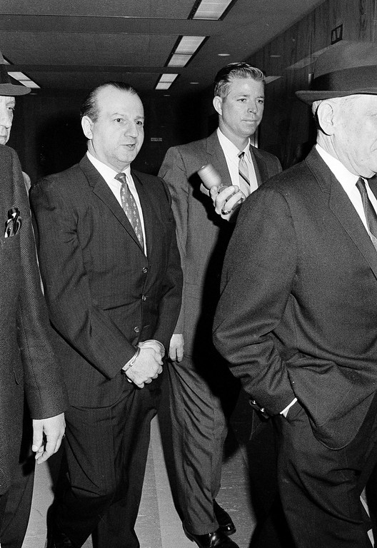 . Jack Ruby, who shot and killed Lee Harvey Oswald, is shown at court in Dallas, Tex., April 1966.  (AP Photo/Ferd Kaufman)
