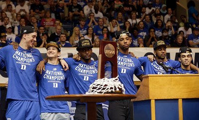 NCAA Duke Title Celebration Basketball