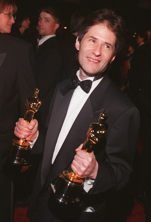 """. James Horner, who won two Oscars for Best Original Dramatic Score and Original Song for the movie \""""Titanic\"""", arrives at the \""""Titanic\"""" party in Beverly Hills, Calif., Tuesday, March 24, 1998. \""""Titanic\"""" walked away with a record-tying 11 Oscars. (AP Photo/Gerard Burkhart)"""