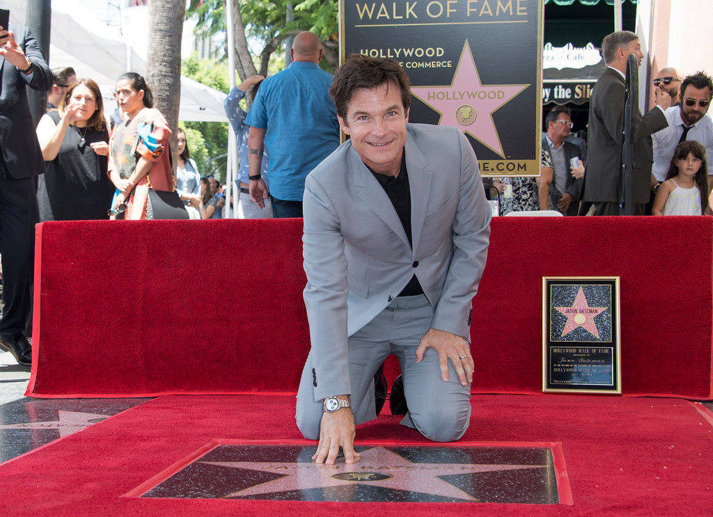. Actor Jason Bateman attends his star unveiling ceremony on the Hollywood Walk of Fame, July 26, 2017 in Hollywood, California. (VALERIE MACON/AFP/Getty Images)