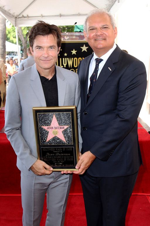 . Jason Bateman, left, and Jeff Zarrinnam pose at the Jason Bateman Star ceremony at the Hollywood Walk of Fame on Wednesday, July 26, 2017, in Los Angeles. (Photo by Willy Sanjuan/Invision/AP)