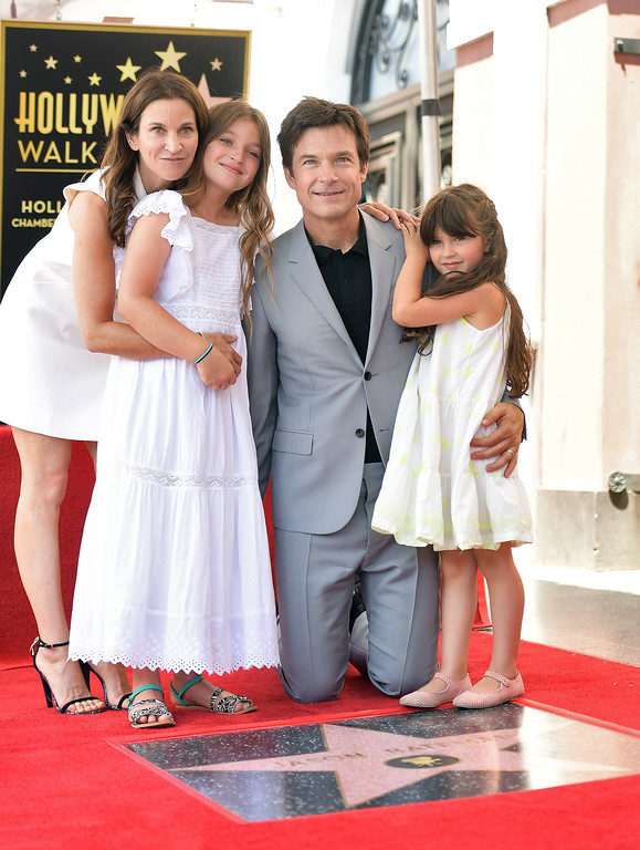 . HOLLYWOOD, CA - JULY 26:  (L-R) Amanda Anka, Francesca Bateman, Jason Bateman and Maple Bateman attend The Hollywood Walk of Fame Star Ceremony honoring Jason Bateman on July 26, 2017 in Hollywood, California.  (Photo by Matt Winkelmeyer/Getty Images)