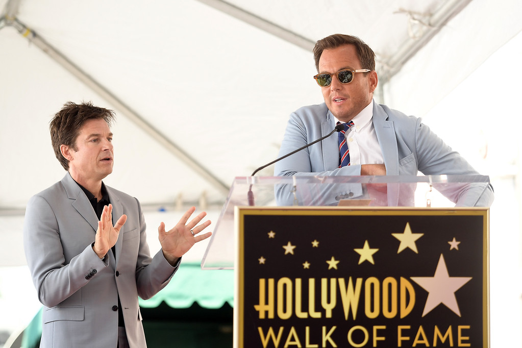 . HOLLYWOOD, CA - JULY 26:  Jason Bateman and Will Arnett attend The Hollywood Walk of Fame Star Ceremony honoring Jason Bateman on July 26, 2017 in Hollywood, California.  (Photo by Matt Winkelmeyer/Getty Images)