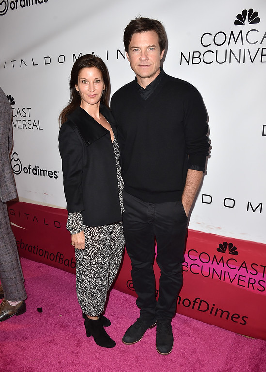 . Amanda Anka, left, and Jason Bateman arrive at the March of Dimes Celebration of Babies honoring Jessica Alba at the Beverly Wilshire hotel on Friday, Dec. 4, 2015, in Beverly Hills, Calif. (Photo by Jordan Strauss/Invision/AP)