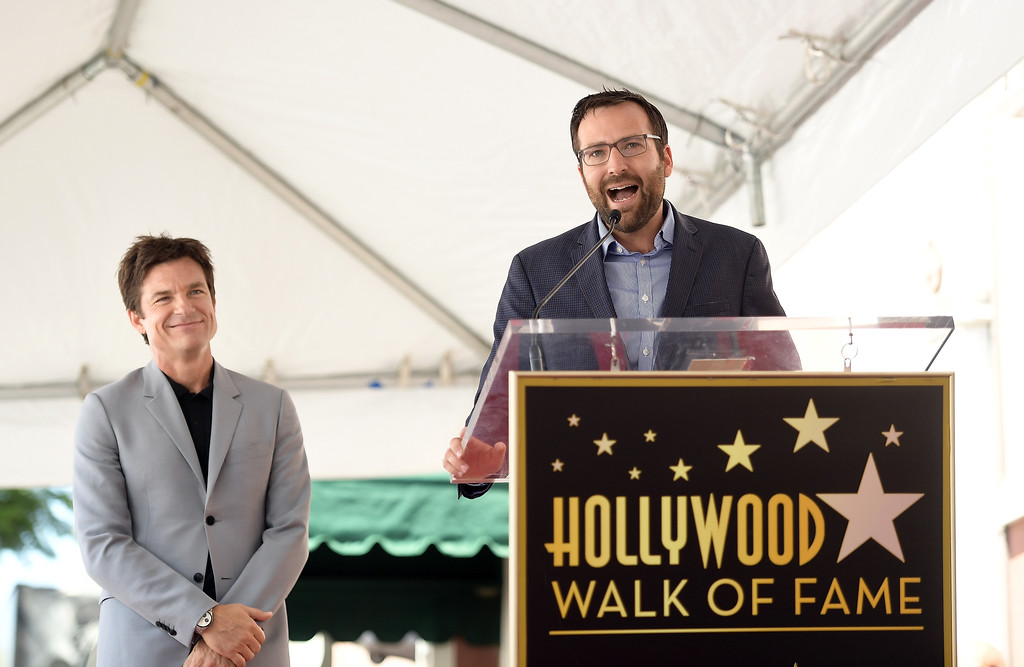 . HOLLYWOOD, CA - JULY 26:  Jason Bateman (L) and State Senator Ben Allen attends The Hollywood Walk of Fame Star Ceremony honoring Jason Bateman on July 26, 2017 in Hollywood, California.  (Photo by Matt Winkelmeyer/Getty Images)
