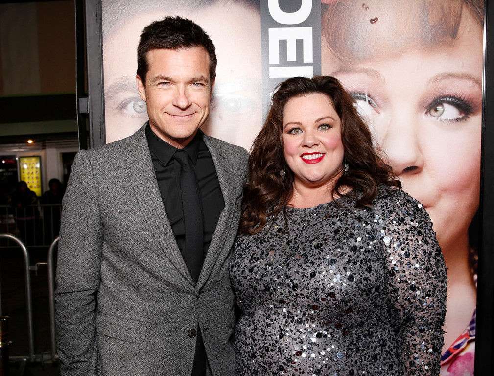 ". Jason Bateman and Melissa McCarthy attend the world premiere of ""Identity Thief\"" at the Mann Village Westwood, Monday, Feb. 4, 2013, in Los Angeles. (Photo by Todd Williamson/Invision/AP Images)"