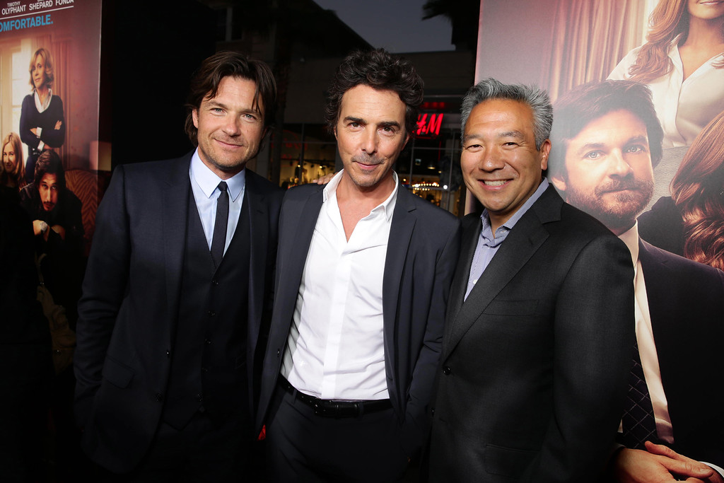 ". Jason Bateman, Director/Producer Shawn Levy and Kevin Tsujihara, Chief Executive Officer of Warner Bros. seen at Warner Bros. ""This is Where I Leave You\"" Los Angeles Premiere on Monday, Sep 15, 2014, in Los Angeles. (Photo by Eric Charbonneau/Invision for Warner Bros./AP Images)"