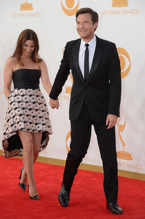 . Amanda Anka and Jason Bateman arrives at the 65th Annual Emmy Awards. Los Angeles, CA. 9/22/2013. photo by (David Crane/Los Angeles Daily News)