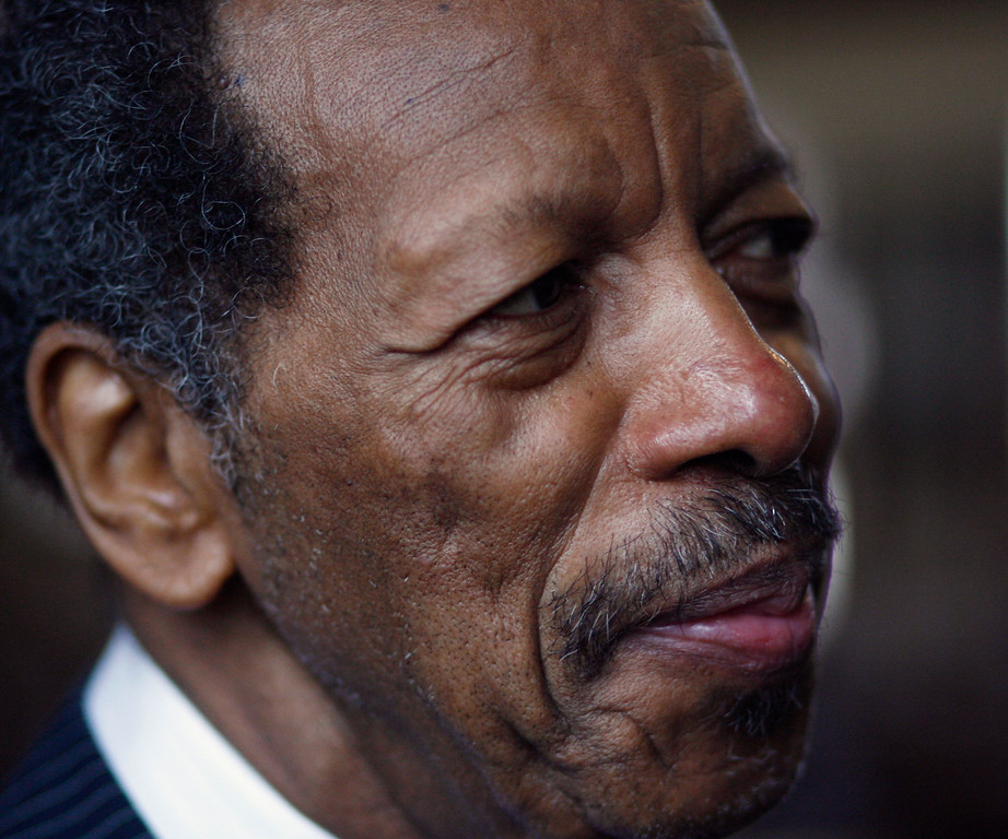 ". Jazz artist Ornette Coleman, shown in this photo from Tuesday, April 3, 2007, in Austin, Texas, won the music category for ""Sound Grammar,\"" his first release in a decade. His is only the second Pulitzer won by a jazz composer.   (AP Photo/Harry Cabluck)"