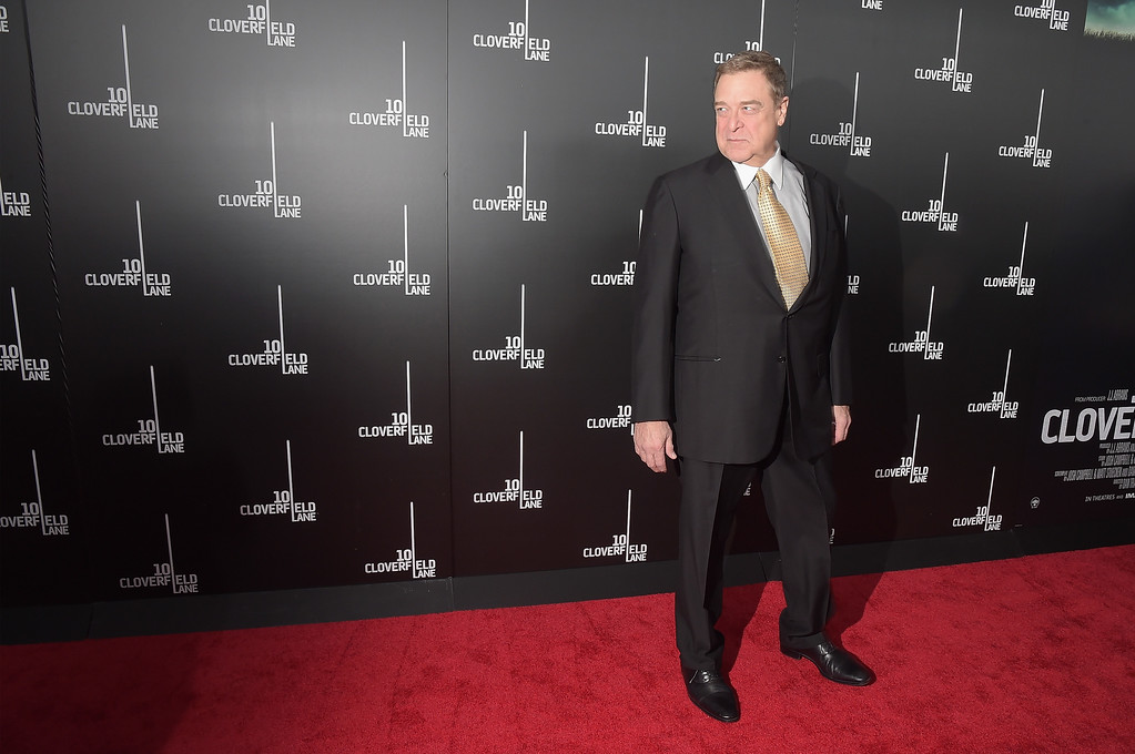 """. NEW YORK, NY - MARCH 08:  Actor John Goodman attends the \""""10 Cloverfield Lane\"""" New York premiere at AMC Loews Lincoln Square 13 theater on March 8, 2016 in New York City.  (Photo by Theo Wargo/Getty Images)"""