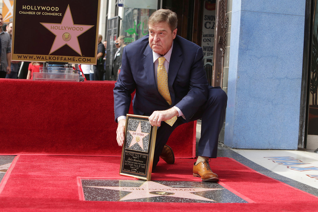 . John Goodman seen at ceremony honoring him with a star on the Hollywood Walk of Fame on Friday, March 10, 2017, in Los Angeles. (Photo by Eric Charbonneau/Invision for Warner Bros./AP Images)
