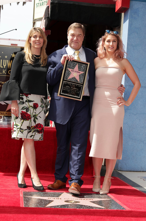 . Anna Beth Goodman, John Goodman and Molly Goodman seen at John Goodman honored with a star on the Hollywood Walk of Fame on Friday, March 10, 2017, in Los Angeles. (Photo by Eric Charbonneau/Invision for Warner Bros./AP Images)