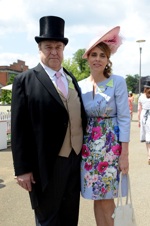 . ASCOT, ENGLAND - JUNE 16:  (L-R) Actor John Goodman and his wife Annabeth Hartzog attend Royal Ascot 2015 at Ascot racecourse on June 16, 2015 in Ascot, England.  (Photo by Kirstin Sinclair/Getty Images for Ascot Racecourse)