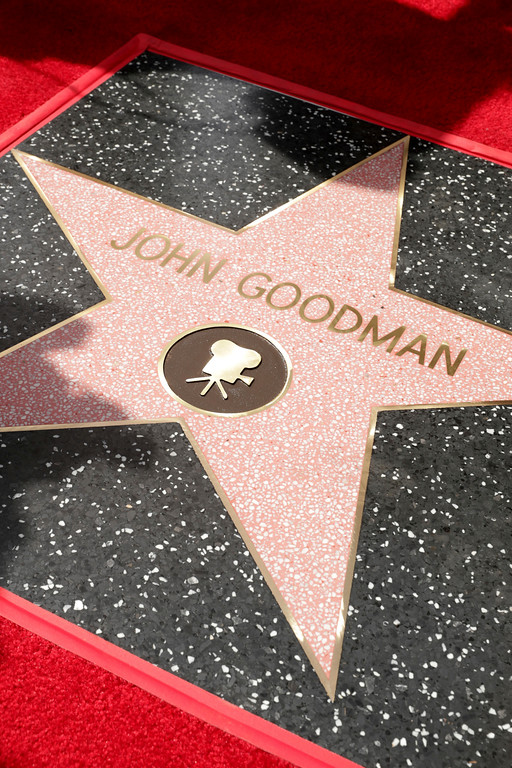 . John Goodman honored with a star on the Hollywood Walk of Fame on Friday, March 10, 2017, in Los Angeles. (Photo by Eric Charbonneau/Invision for Warner Bros./AP Images)