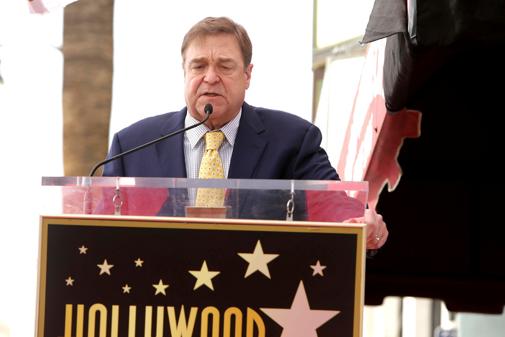 . John Goodman speaks at ceremony honoring him with a star on the Hollywood Walk of Fame on Friday, March 10, 2017, in Los Angeles. (Photo by Eric Charbonneau/Invision for Warner Bros./AP Images)
