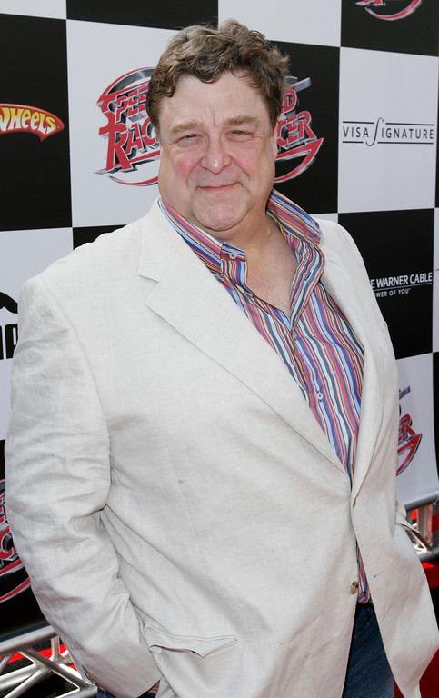 ". Actor John Goodman arrives at the premiere of ""Speed Racer\"" Saturday, April 26, 2008, in Los Angeles. (AP Photo/Gus Ruelas)"