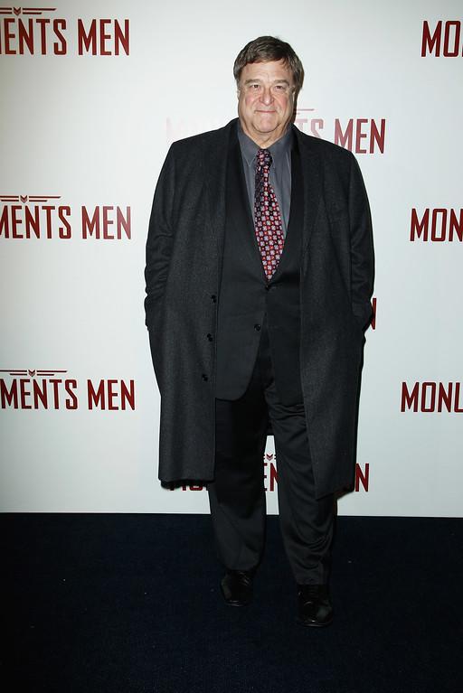 . PARIS, FRANCE - FEBRUARY 12:  John Goodman attends \'Monuments Men\' Paris premiere at Cinema UGC Normandie on February 12, 2014 in Paris, France.  (Photo by Julien M. Hekimian/Getty Images)