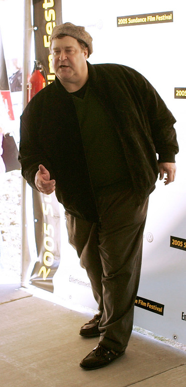 ". Actor John Goodman strikes a pose at the premier of his film \""Marilyn Hotchkiss Ballroom Dancing & Charm School \""  Monday, Jan. 24, 2005, in Park City, Utah, during the Sundance Film Festival. (AP Photo/Douglas C. Pizac)"