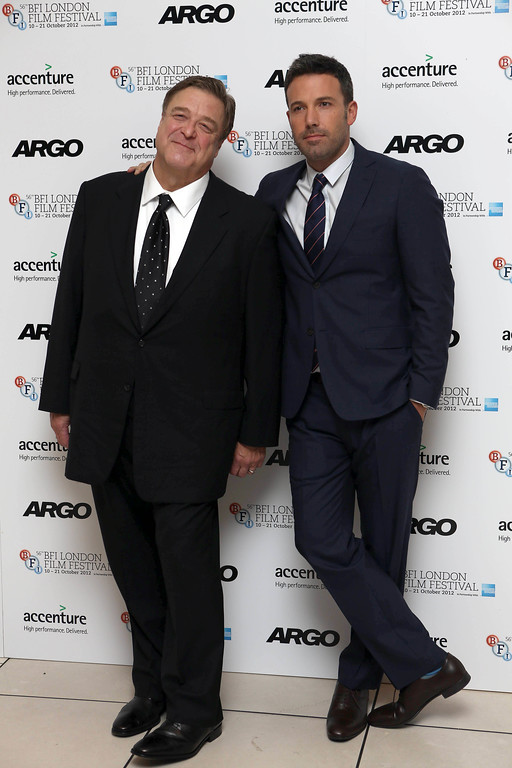 . Premiere for Argo,London Film Festival Accenture Gala arrivals, 17th October, 2012  Odeon Leicester Sq,London, UK. (Photo by Jon Furniss/Invision/AP)  Picture shows: John Goodman and Ben Affleck