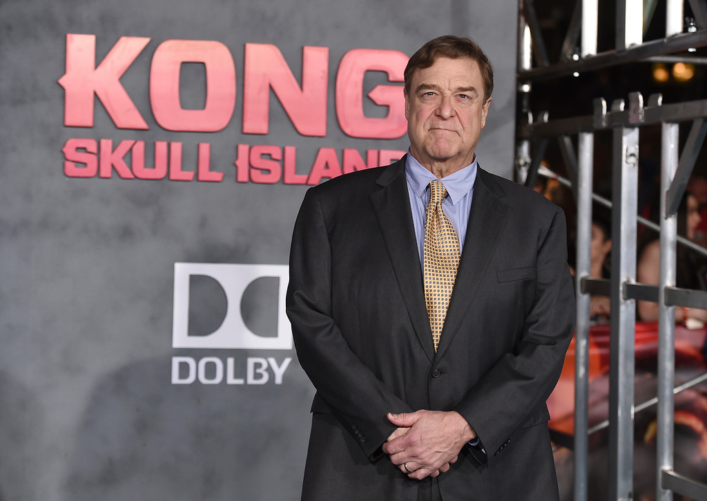""". John Goodman arrives at the Los Angeles premiere of \""""Kong: Skull Island\"""" at the Dolby Theatre on Wednesday, March 8, 2017. (Photo by Jordan Strauss/Invision/AP)"""