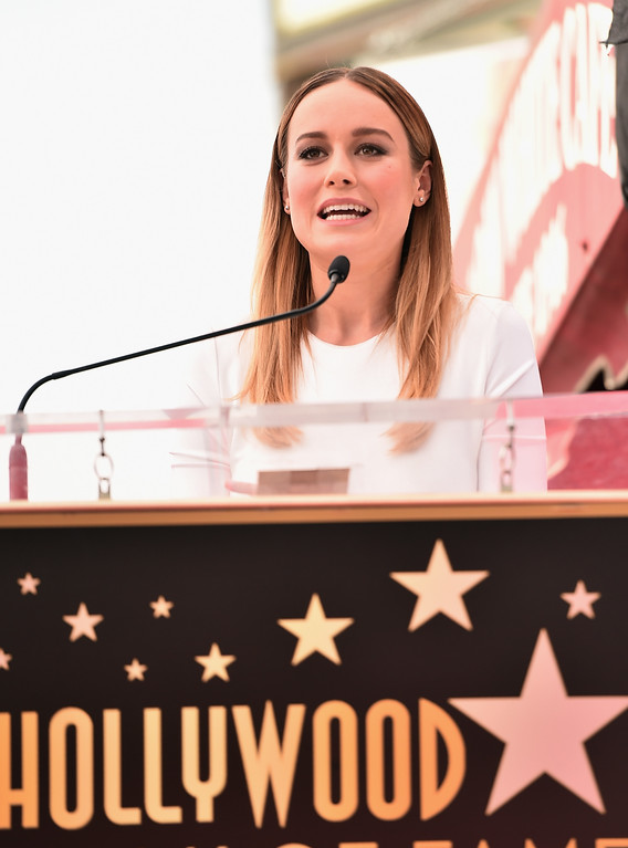 . HOLLYWOOD, CA - MARCH 10:  Actress Brie Larson attends a ceremony honoring John Goodman with the 2,604th Star on The Hollywood Walk of Fame on March 10, 2017 in Hollywood, California.  (Photo by Alberto E. Rodriguez/Getty Images)