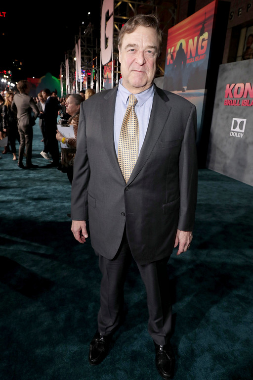 """. John Goodman seen at Warner Bros. Pictures and Legendary Pictures Present the Los Angeles Premiere of \""""Kong: Skull Island\"""" at Dolby Theatre on Wednesday, March 8, 2017, in Los Angeles. (Photo by Eric Charbonneau/Invision for Warner Bros./AP Images)"""