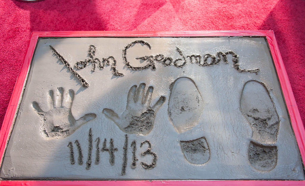 . HOLLYWOOD, CA - NOVEMBER 14:  Actor John Goodman attends the hand and footprint ceremony honoring him at TCL Chinese Theatre on November 14, 2013 in Hollywood, California.  (Photo by Valerie Macon/Getty Images)