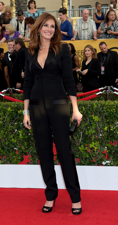 . Julia Roberts arrives to the 21st Annual Screen Actors Guild Awards at the Shrine Auditorium in Los Angeles, California on Sunday January 25, 2014.  (Photos by Andy Holzman / Los Angeles Daily News)