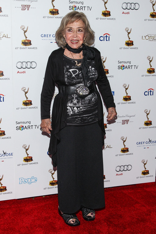 . Actress June Foray arrives at the 65th Primetime Emmy Awards Performers Nominee Reception at the Pacific Design Center on Friday, Sept. 20, 2013 in Los Angeles. (Photo by Paul A. Hebert/Invision/AP)