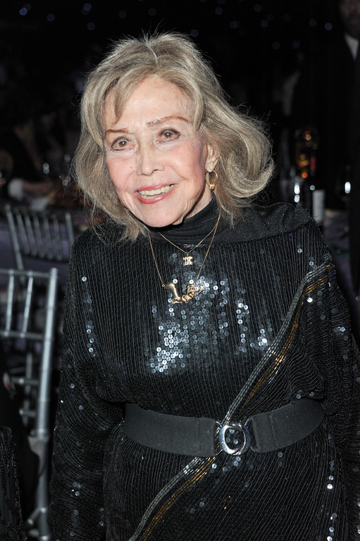 . June Foray attends the 2013 Primetime Creative Arts Emmy Awards Governors Ball at the Nokia Theatre L.A. Live on Sunday, Sept. 15, 2013 in Los Angeles. (Photo by Richard Shotwell/Invision/AP)