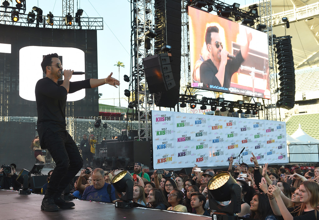 . Luis Fonsi performs at Wango Tango at StubHub Center on Saturday, May 13, 2017, in Carson, Calif. (Photo by Chris Pizzello/Invision/AP)