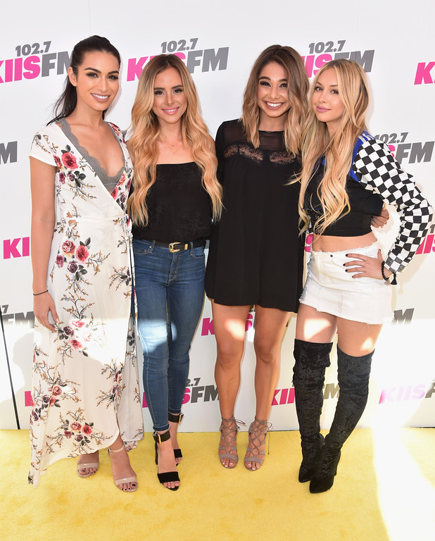 . CARSON, CA - MAY 13:  (L-R) Ashley Iaconetti, Amanda Stanton, Sarah Vendal, and Witney Carson attend 102.7 KIIS FM\'s 2017 Wango Tango at StubHub Center on May 13, 2017 in Carson, California.  (Photo by Frazer Harrison/Getty Images)
