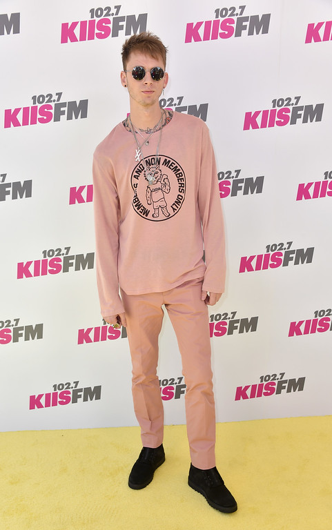 . CARSON, CA - MAY 13:  Machine Gun Kelly attends 102.7 KIIS FM\'s 2017 Wango Tango at StubHub Center on May 13, 2017 in Carson, California.  (Photo by Frazer Harrison/Getty Images)
