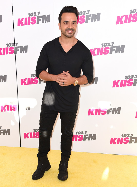 . Luis Fonsi arrives at Wango Tango at StubHub Center on Saturday, May 13, 2017, in Carson, Calif. (Photo by Richard Shotwell/Invision/AP)