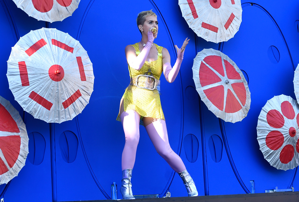 . Katy Perry performs at Wango Tango at StubHub Center on Saturday, May 13, 2017, in Carson, Calif. (Photo by Chris Pizzello/Invision/AP)