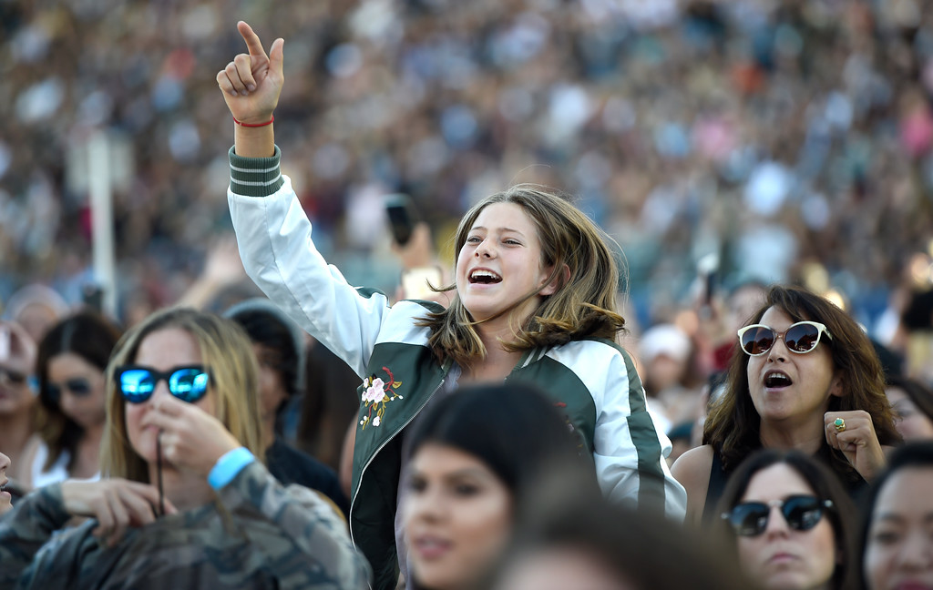 . Guests attend Wango Tango at StubHub Center on Saturday, May 13, 2017, in Carson, Calif. (Photo by Chris Pizzello/Invision/AP)