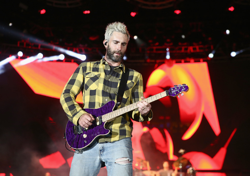 . CARSON, CA - MAY 13:  Adam Levine of Maroon 5 performs onstage during 102.7 KIIS FM\'s 2017 Wango Tango at StubHub Center on May 13, 2017 in Carson, California.  (Photo by Rich Fury/Getty Images)