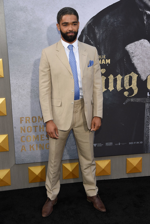 ". Kingsley Ben-Adir arrives at the world premiere of ""King Arthur: Legend of the Sword\"" at the TCL Chinese Theatre on Monday, May 8, 2017, in Los Angeles. (Photo by Chris Pizzello/Invision/AP)"